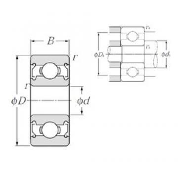 2 mm x 5 mm x 2,5 mm  NTN BC2-5SSA Rolamentos de esferas profundas