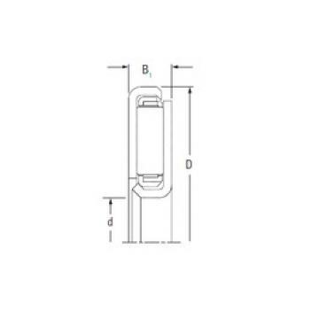 Timken FNTKF-4872 Rolamentos de agulha